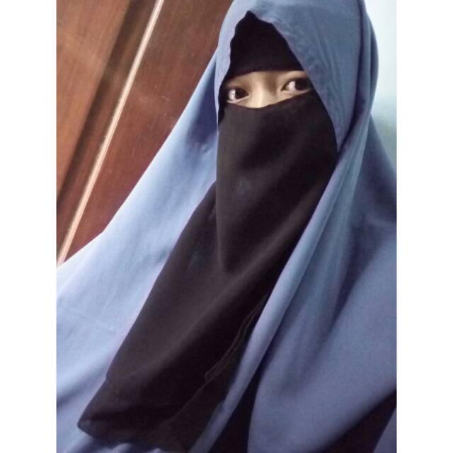 Niqab Bandana 2 Layer Cadar Bandana Dua Layer Shopee Indonesia