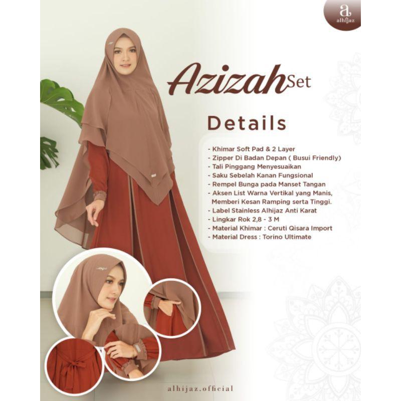 open PO Azizah set by Alhijaz