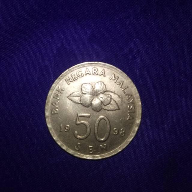 UANG KOIN NEGARA MALAYSIA 50 SEN TAHUN 1998