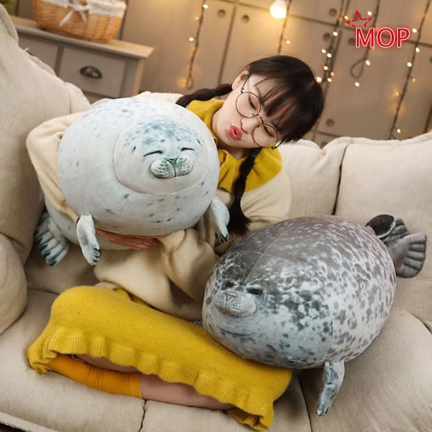 60cm Chubby Blob Seal Plush Pillow Animal Toy Cute Ocean Animal Stuffed Doll hot