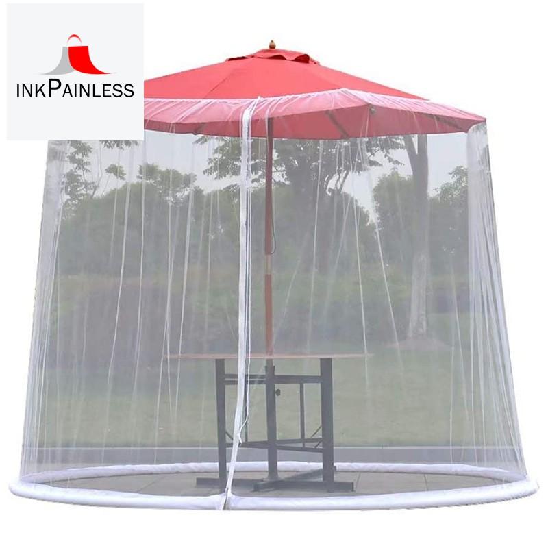 Patio Umbrella Mosquito Net Courtyard Umbrella Net Cover Umbrella Mosquito Net Cover Insect Net Cover For Garden White Shopee Indonesia