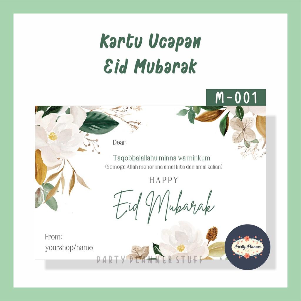 Kartu Ucapan Lebaran Idul Fitri Eid Mubarak Kartu Hampers Lebaran Kartu Ucapan Parsel Idul Fitri Shopee Indonesia