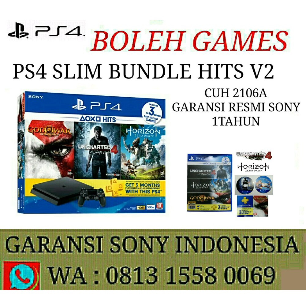Jual Sony Ps4 Slim Playstation 4 500gb 2 Stick Garansi Cuh2006a Resmi 1 Thn Indonesia Diskon Shopee