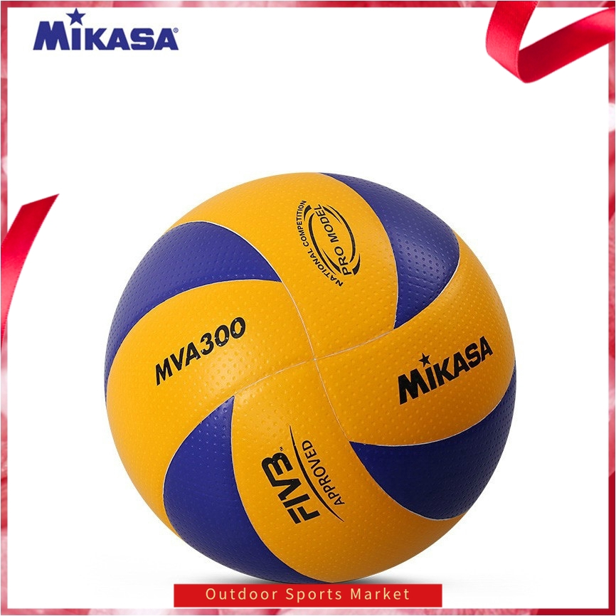 Mikasa 200 Volleyball For Indoor Olympic Game Official Ball Size 5 Blue//Yellow