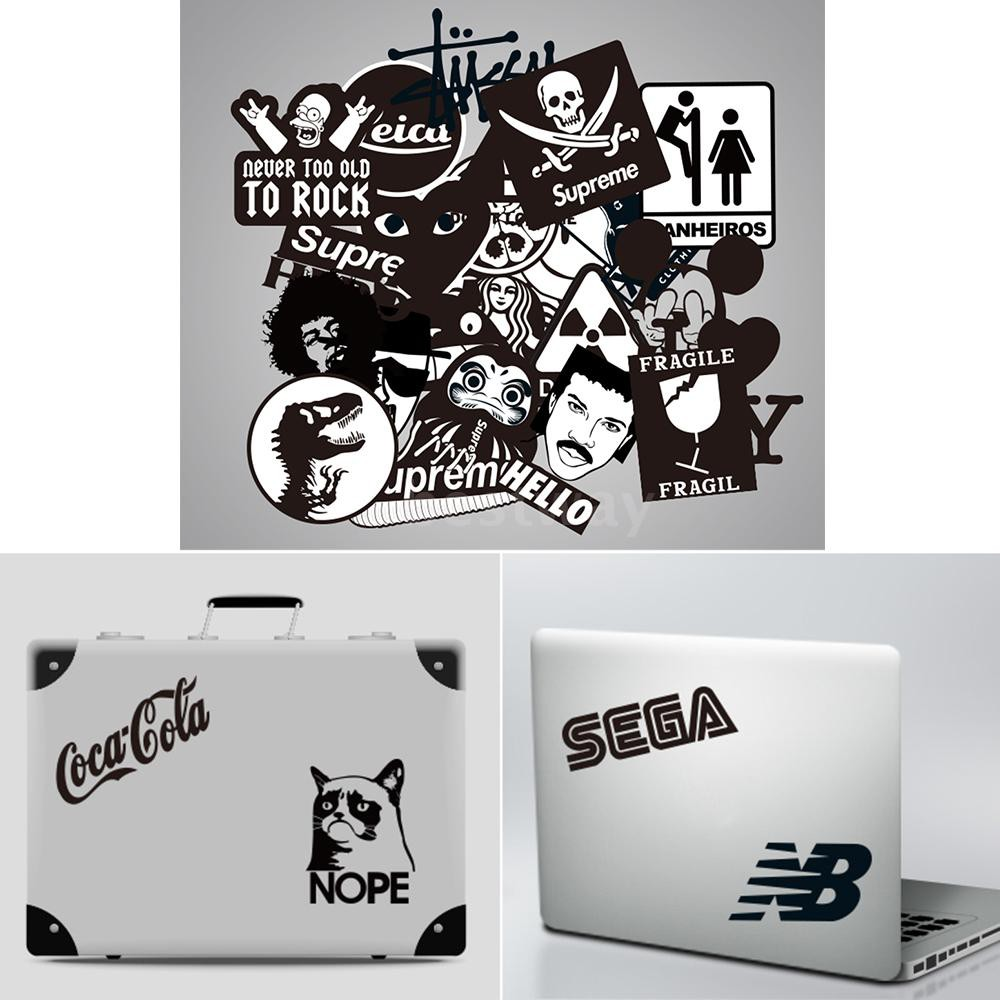 Rock And Roll Music Sticker Decals Packs For Water Bottle Laptop