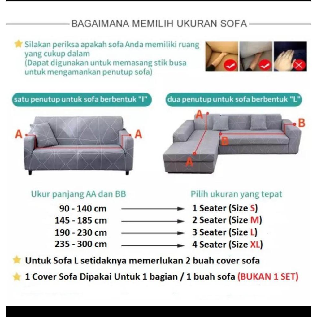 Yw28ut Cover Sofa Seater Sarung Sofa 1 2 3 4 Seater Stretch Elastis Bonus 1pc Sarung Bantal Shopee Indonesia Ukuran sofa 2 seat