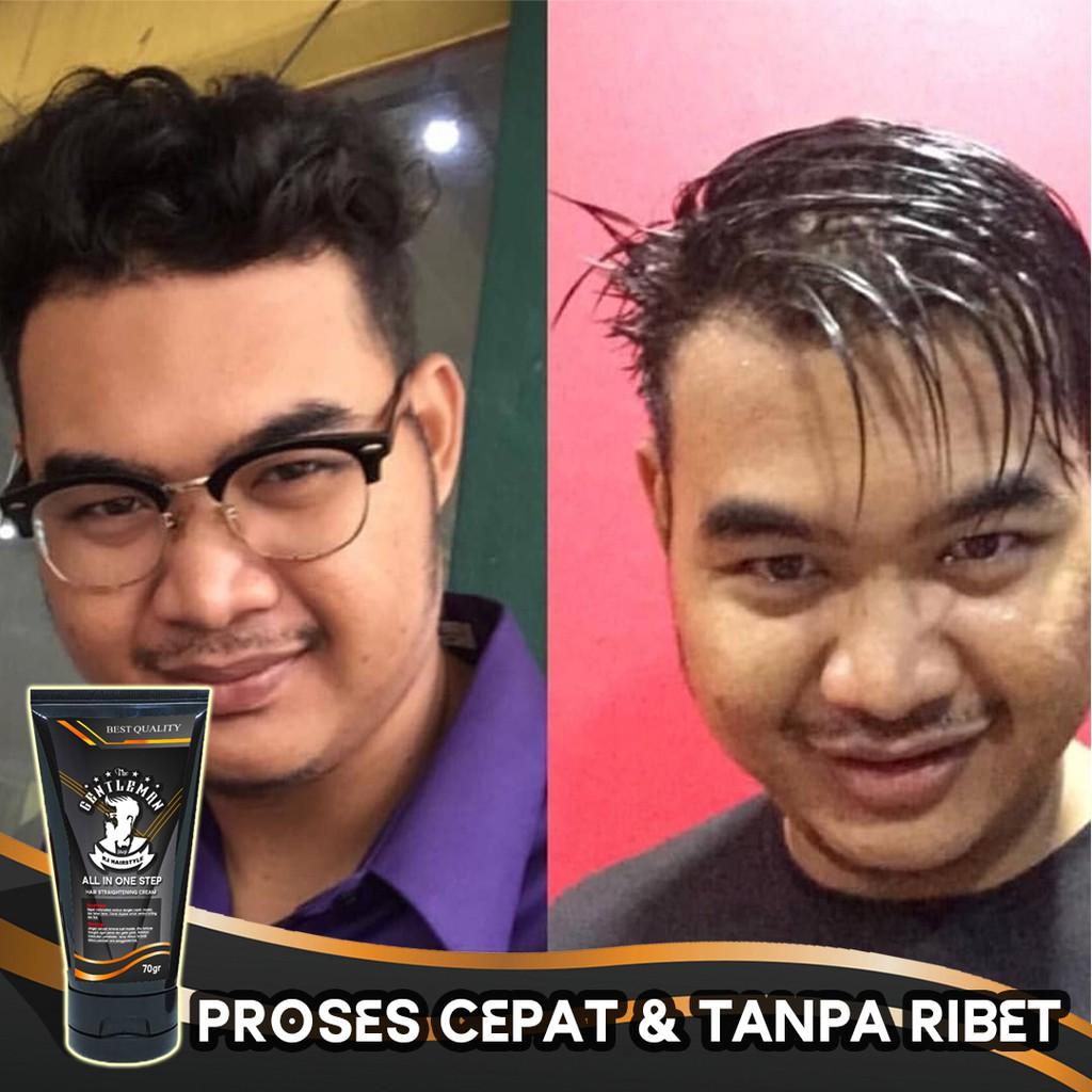Pelurus Rambut Pria Cream Rambut Pria Ala Barbershop The Gentleman By Rj Hairstyle Shopee Indonesia