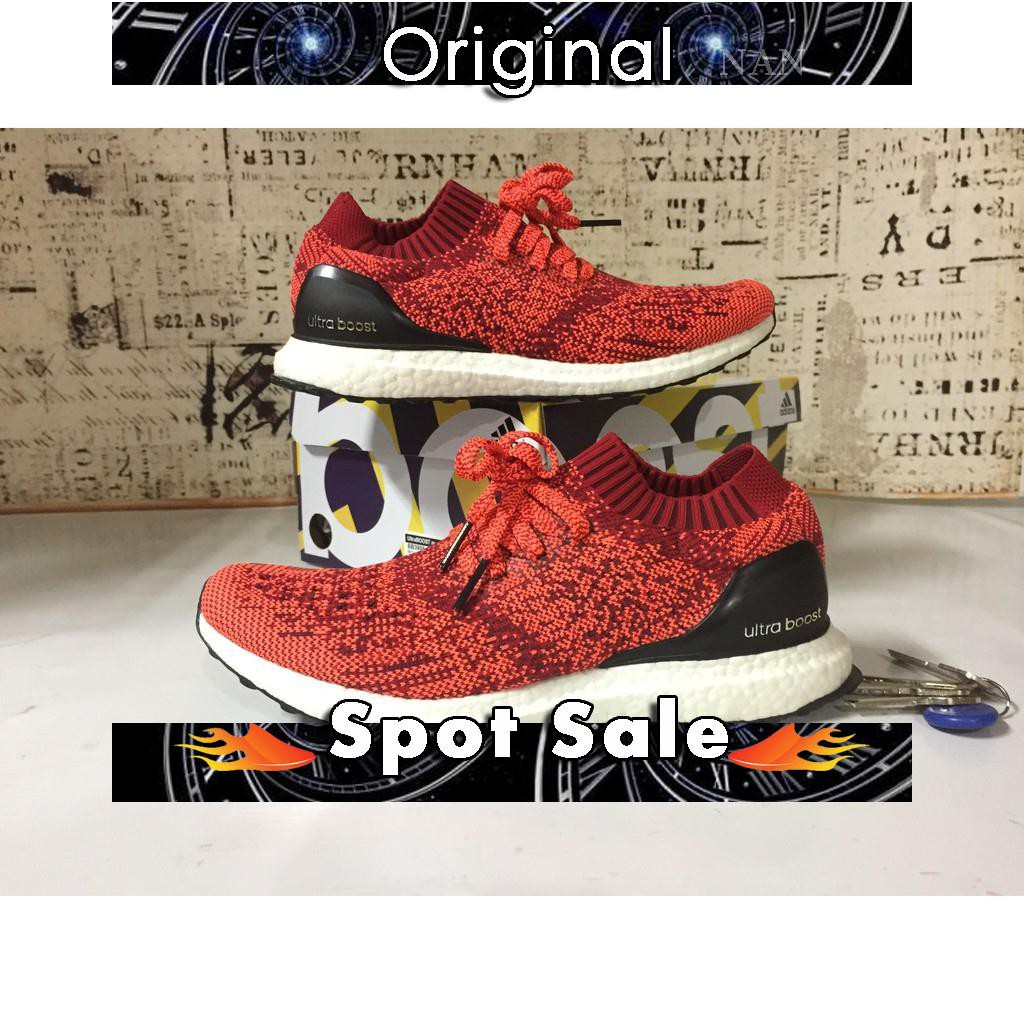 61ae0c8a577ac Sepatu Sneakers Desain Adidas Ultra Boost Uncaged LTD Bahan Breathable  Warna Merah