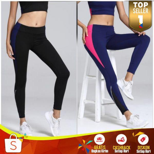 Legging Sport Panjang Celana Leging Ketat Seksi Olahraga Wanita Import Lejing Senam Gym Murah Shopee Indonesia