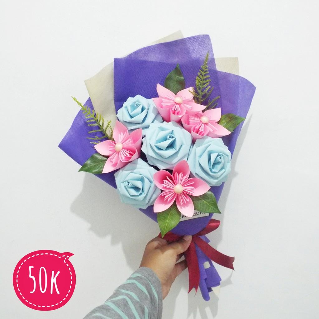 Buket Bunga Kertas Hadiah Wisuda Ulang Tahun Anniversary Shopee Indonesia