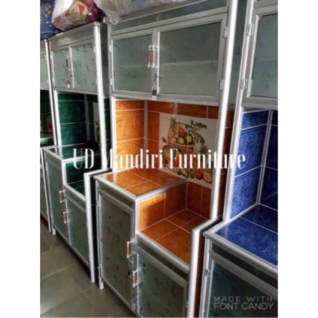 Rak Piring Lemari Dapur Box Kaca Keramik 2 Pintu Pipa Besar Shopee Indonesia