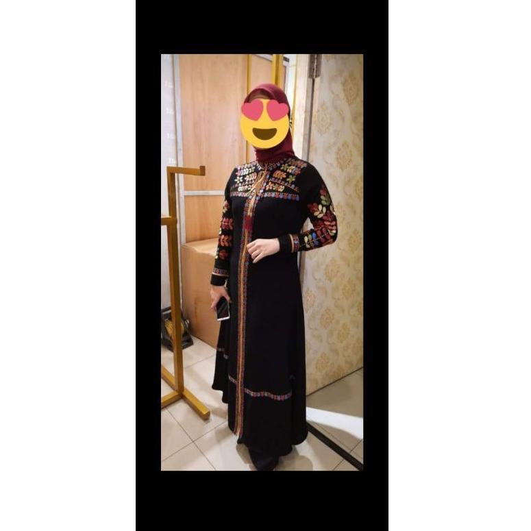 {New Arrival} Gamis Abaya Original Hikmat Fashion terbaru A5527 Black. (KODE 909)