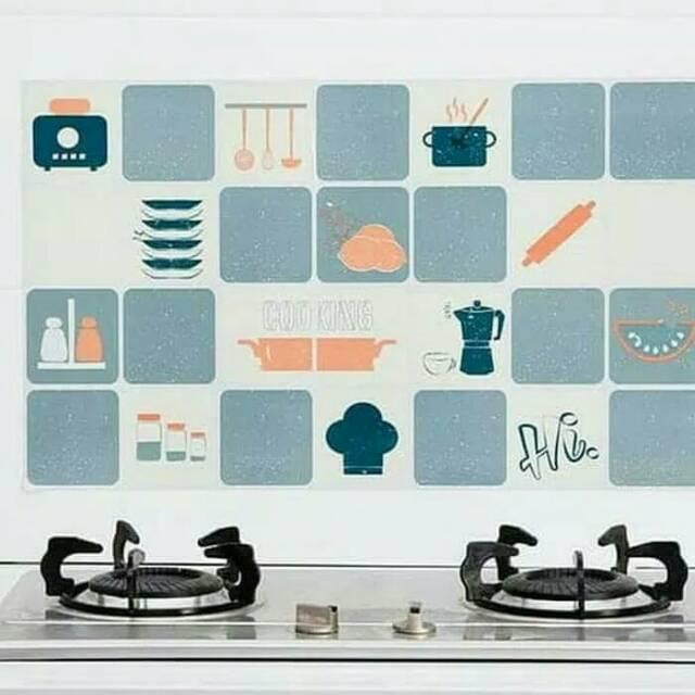 Wallpaper Dinding Wall Sticker Dinding Dapur Kitchen Dekorasi Minimalis Gambar Dinding