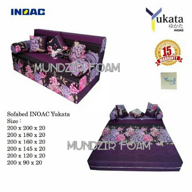 Sofabed Inoac Yukata Custom Tebal 20cm Garansi 15 Tahun