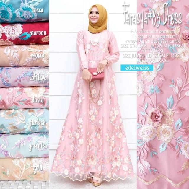 Busana Muslim Farasya 83dress By Edelweiss Shopee Indonesia