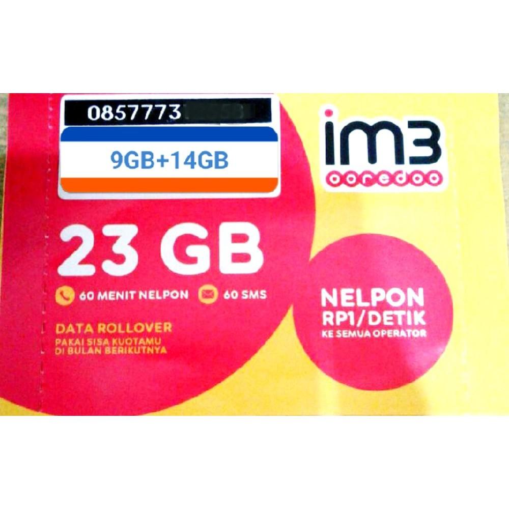 Dijual Perdana Indosat 9gb Plus 14gb Total Kuota 23 Gb Murah Im3 Shopee Indonesia