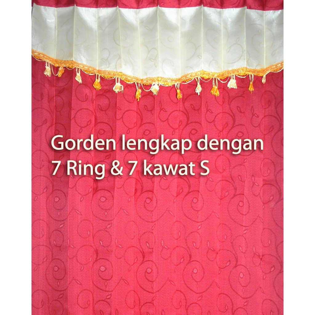 Gorden Manohara Termurah Gordin Cantik Gordyn Plisket Bahan Saten Lebar 1 M Tinggi 185 Cm Hardeng Hordeng Shopee Indonesia