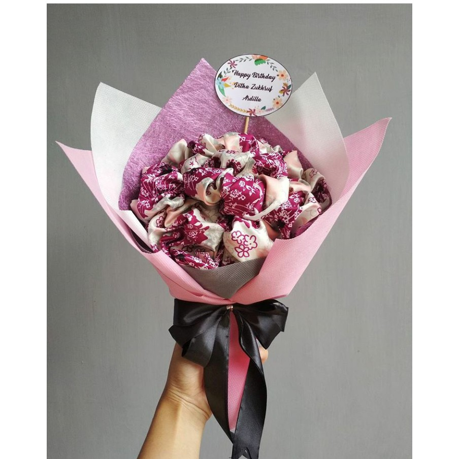 Buket Bunga Dari Hijab Untuk Kado Pacar Wisuda Kerudung Variasi