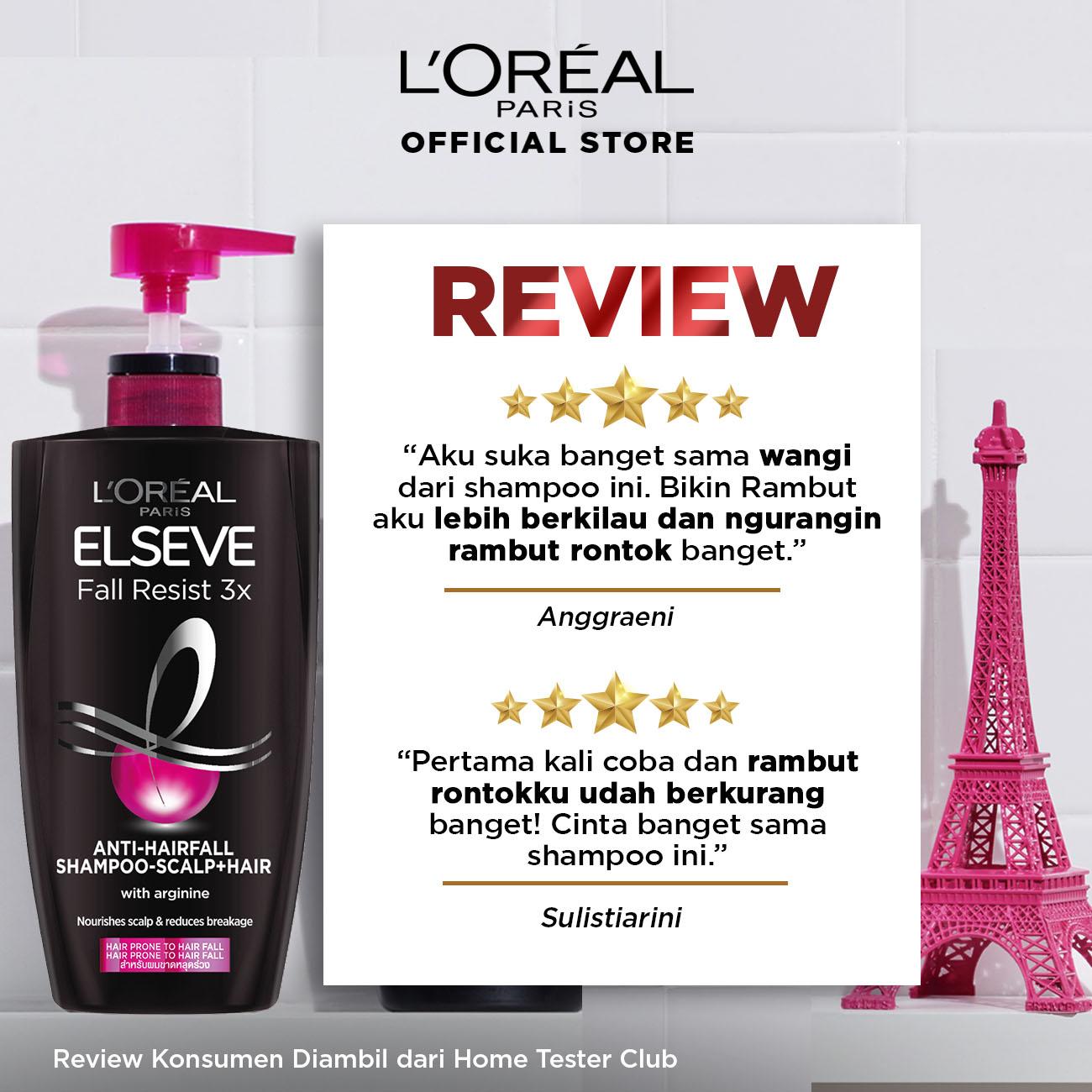 L'Oreal Paris Fall Resist 3x Shampoo Hair Care - 280ml (Perawatan Untuk Rambut Mudah Rontok)-1