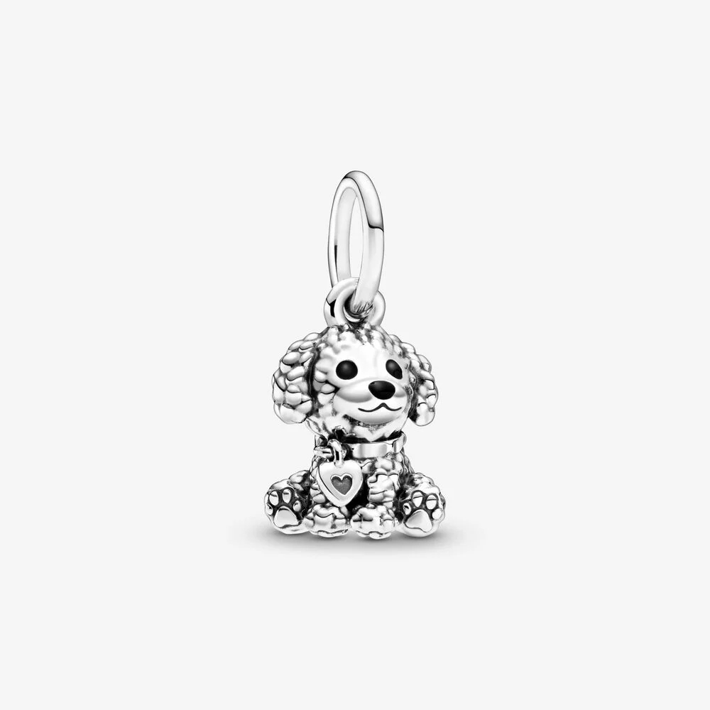 Fit Original Pandora Charms Bracelet Plated Silver Poodle Puppy Dog Dangle Charm Pendant Diy Jewelry Shopee Indonesia