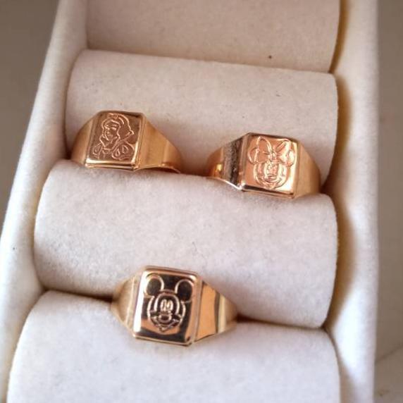 12.12 BIRTHDAY SALE Cincin bayi emas asli 375 0.5gram-an ♠