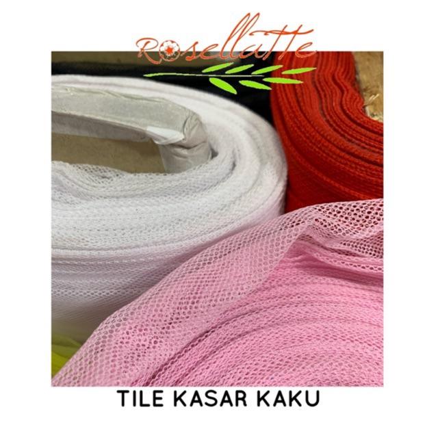 Hard Tulle Kain Tile Kaku Kasar Peticoat Pengembang Rok Dress Shopee Indonesia