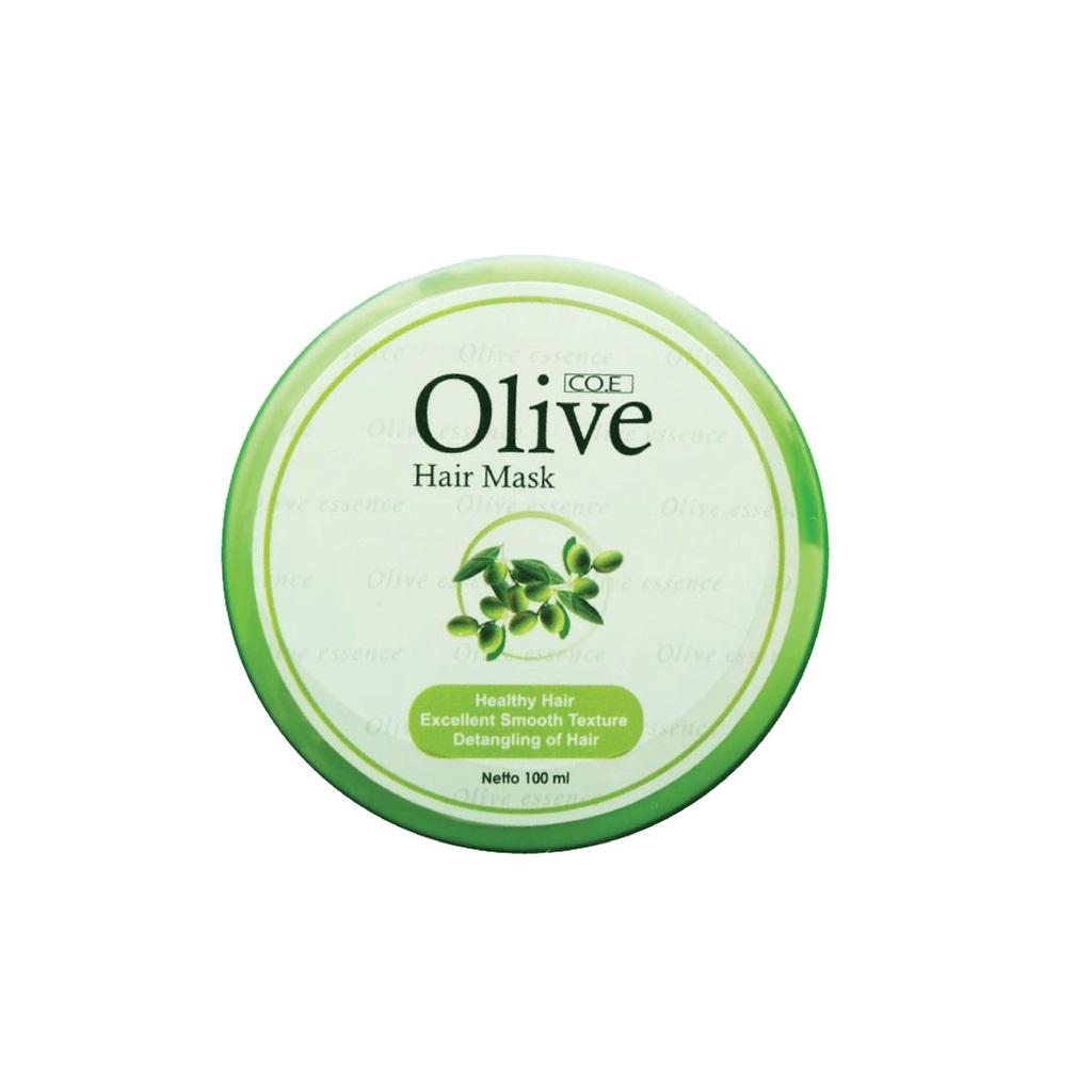 SYB CO.E Olive Hair Treatment - Shampoo Conditioner Tonic Black Kemiri Oil Mask Serum Kids-Olive Hair Mask