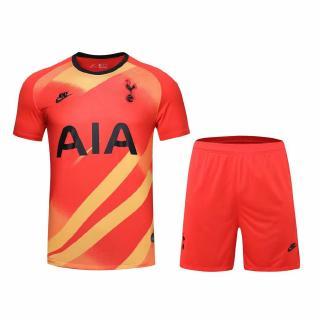 19 20 Tottenham Hotspur Jersi Bola Sepak Baju Soccer Jersey Red Goalie Service Shirt Kit Short Shopee Indonesia