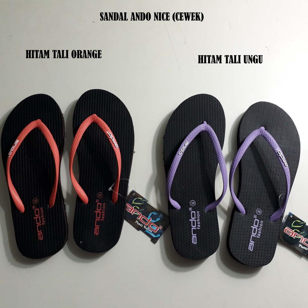 ando elvira sandal jepit wanita merah MURAH GRATIS PROMO   Shopee Indonesia