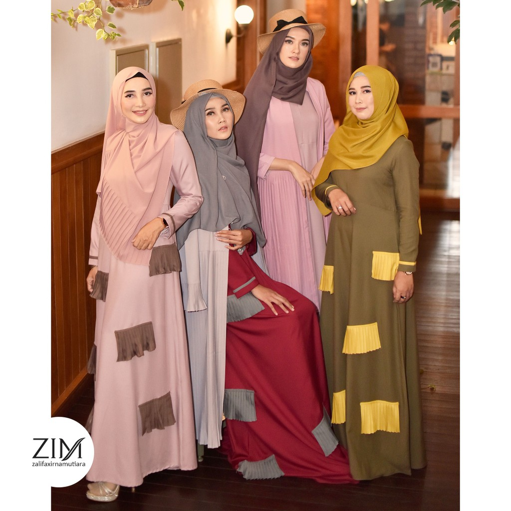 Denisha Dress by Zalifa x Irna Mutiara - Baju Muslim Wanita - Gamis