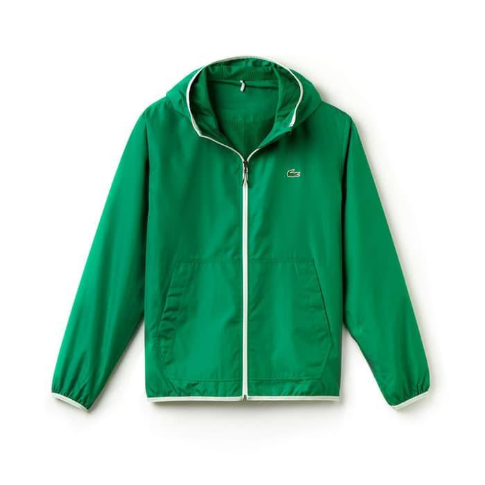 New Men Lacoste Jacket Tenis GREEN Original - Jaket Pria Branded ... 5fd40069f1