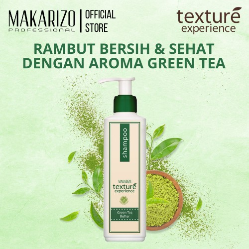 Makarizo Professional Texture Experience Shampoo Green Tea Butter 250 ml-1