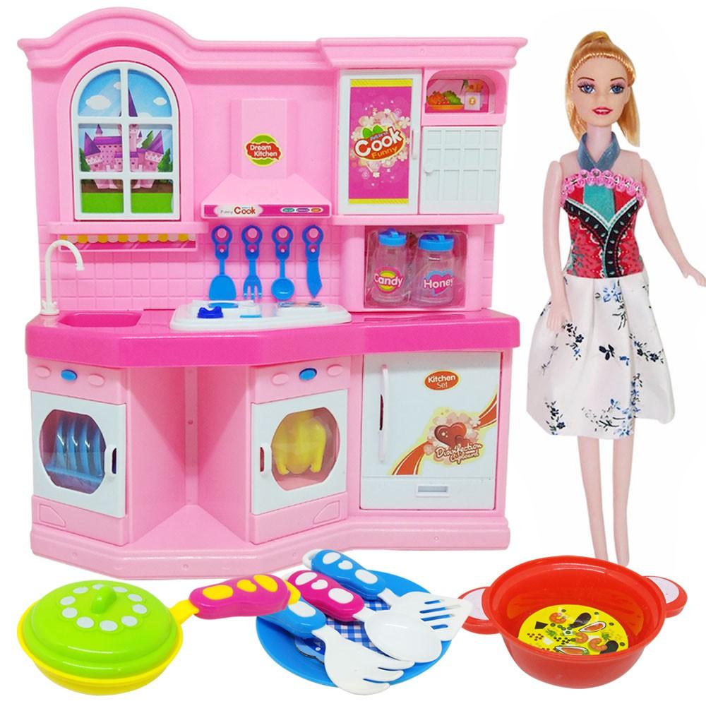Mainan Anak Perempuan Dapur Set Masak Masakan Tiny Chef 3703b3 Shopee Indonesia