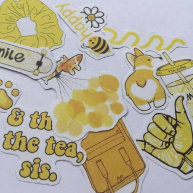 Stiker Aesthetic Vsco Kuning Murah Cuma 7 Rb High Quality Shopee Indonesia