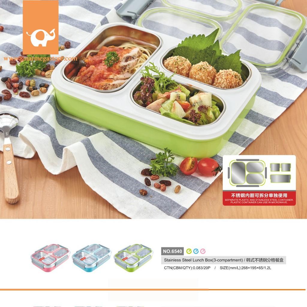 Iqix Tipe 2504 Lunch Box 3 Sekat Bentuk Segitiga Unik Murah Anti Yooyee Leakproof 578 Kotak Makan Bocor Tosca Tumpah Seal Karet Antar Shopee Indonesia