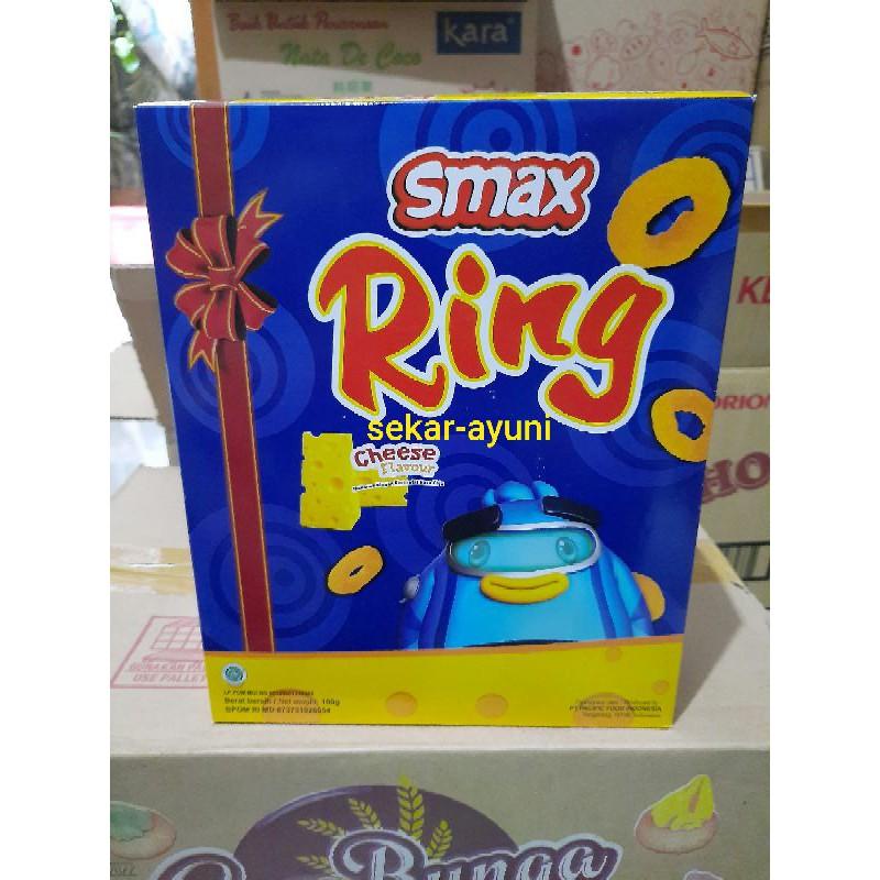 smax ring cheese 100 gr 100gr kemasan box no repack snack smax ring keju