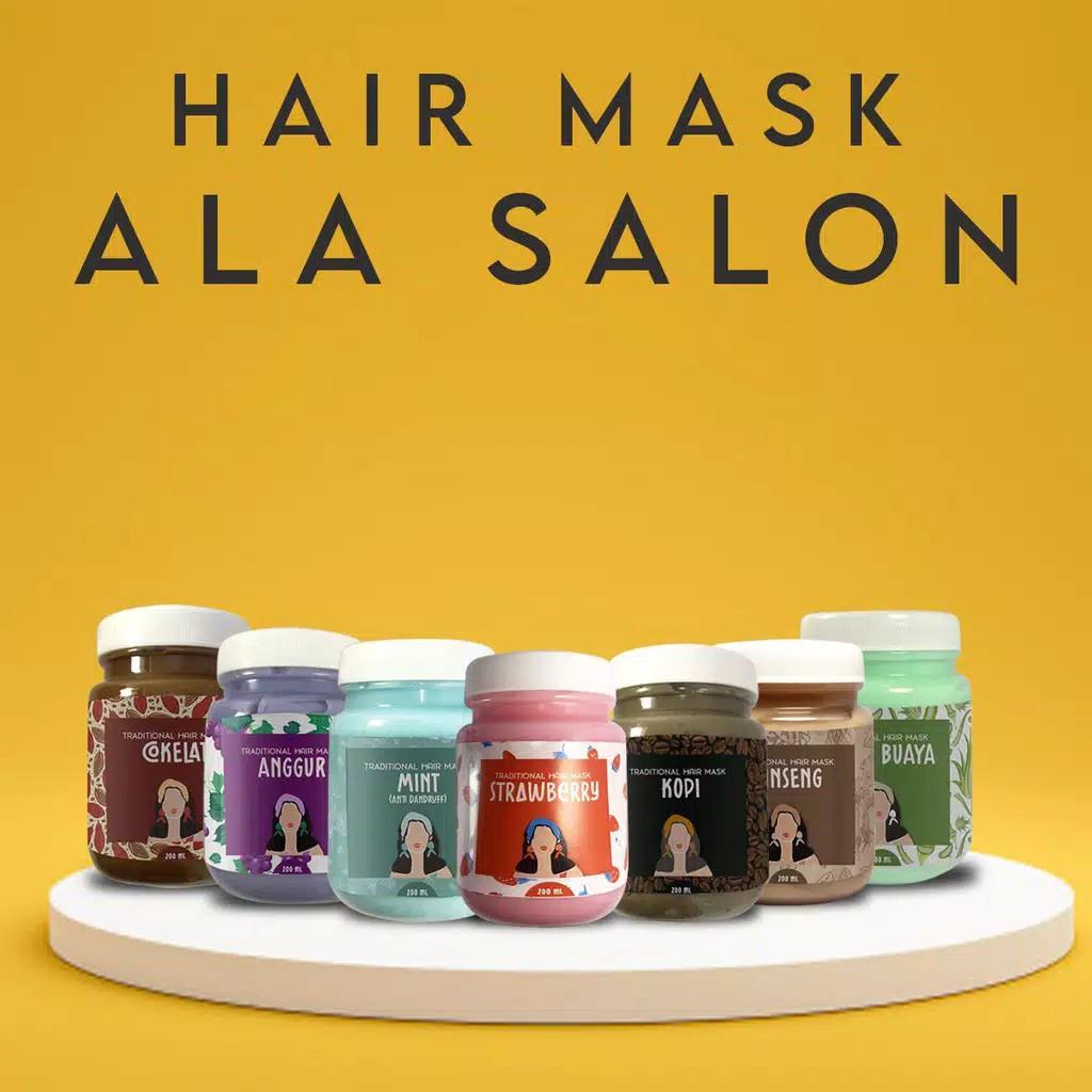 Tradisional Hair Mask Masker Rambut Creambath Salon Murah Terlaris Yeppology Shopee Indonesia