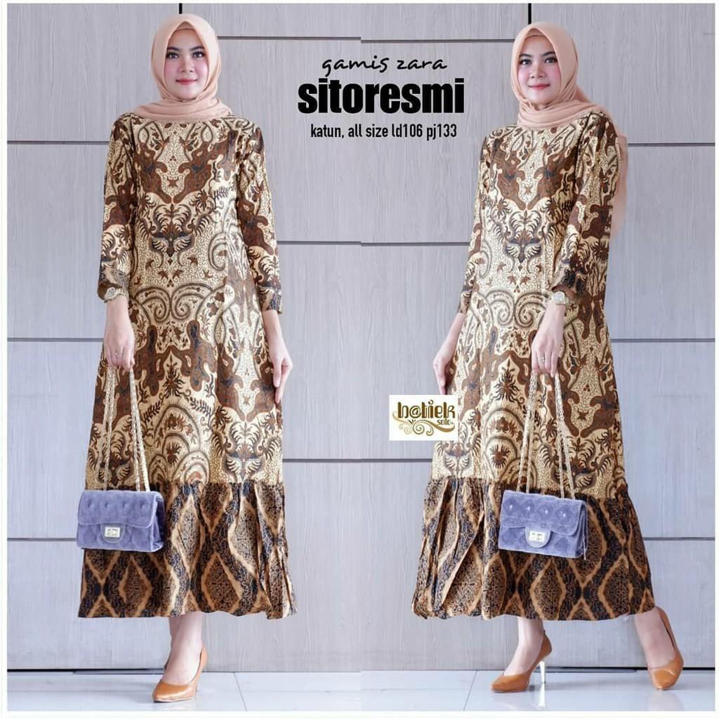 MAKARA SHOP Baju Batik Wanita Zara Sitoresmi Wanita Berpenampilan Anggun  Dan Menawan Serta Mempesona