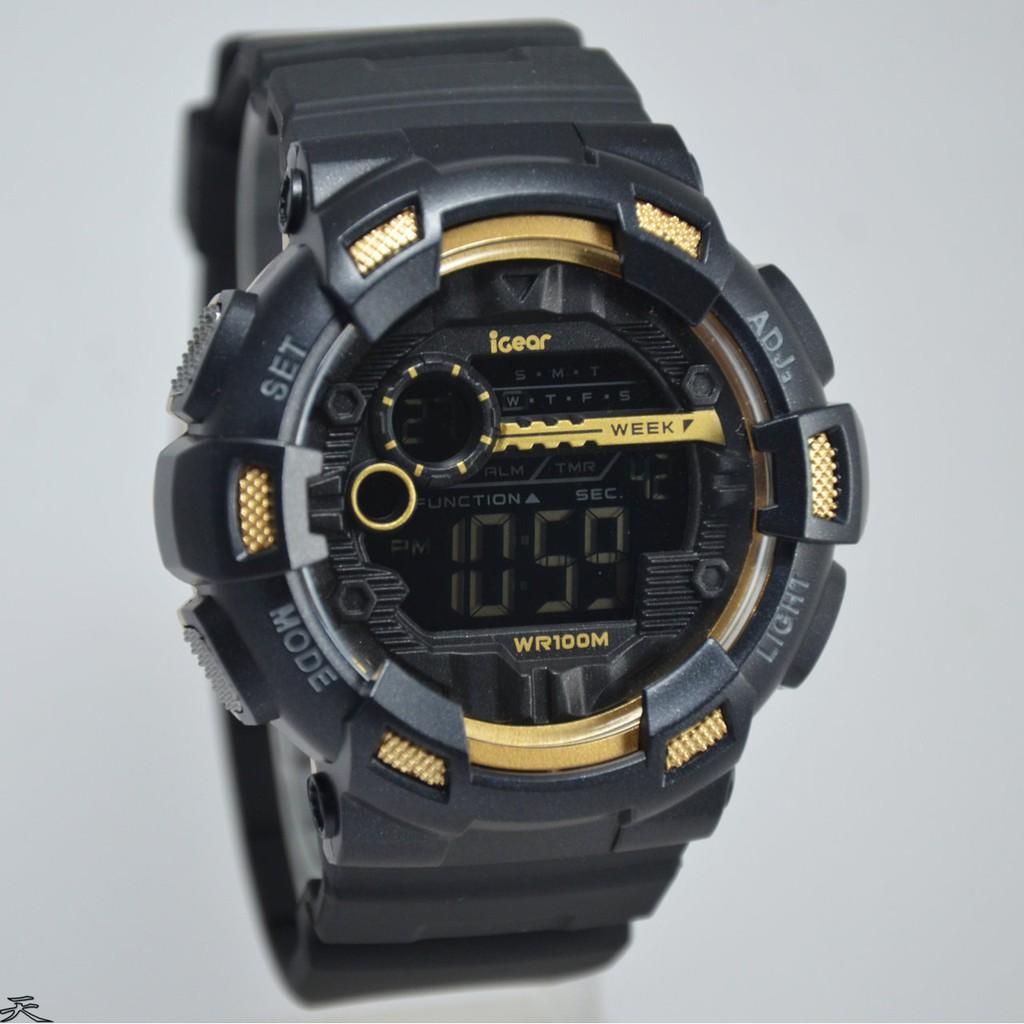 Jam Tangan Pria Dziner Original Dualtime Rubber D Ziner Jamtangan Igear Digital Strap Igr09 Hitam Spec