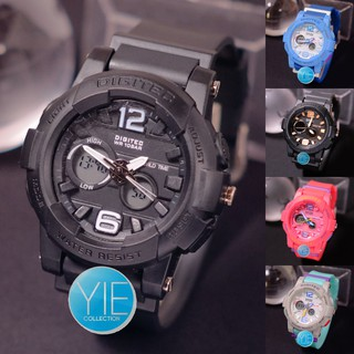 Jam Tangan Sport Elegan Wanita Digitec DG 2073 T Dual Time Original Anti Air