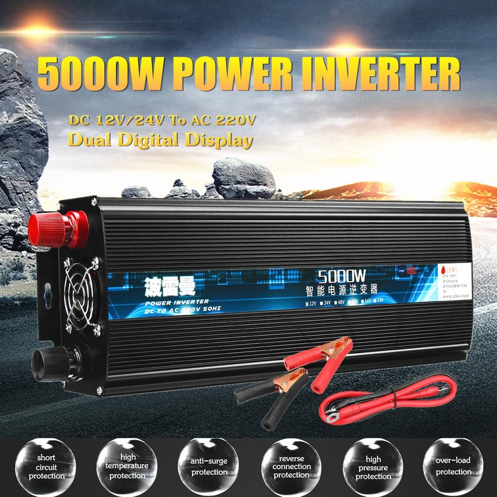 50Hz 1x High-power 12V Boost to 220V 2000W Modified Sine Wave Car Power Inverter