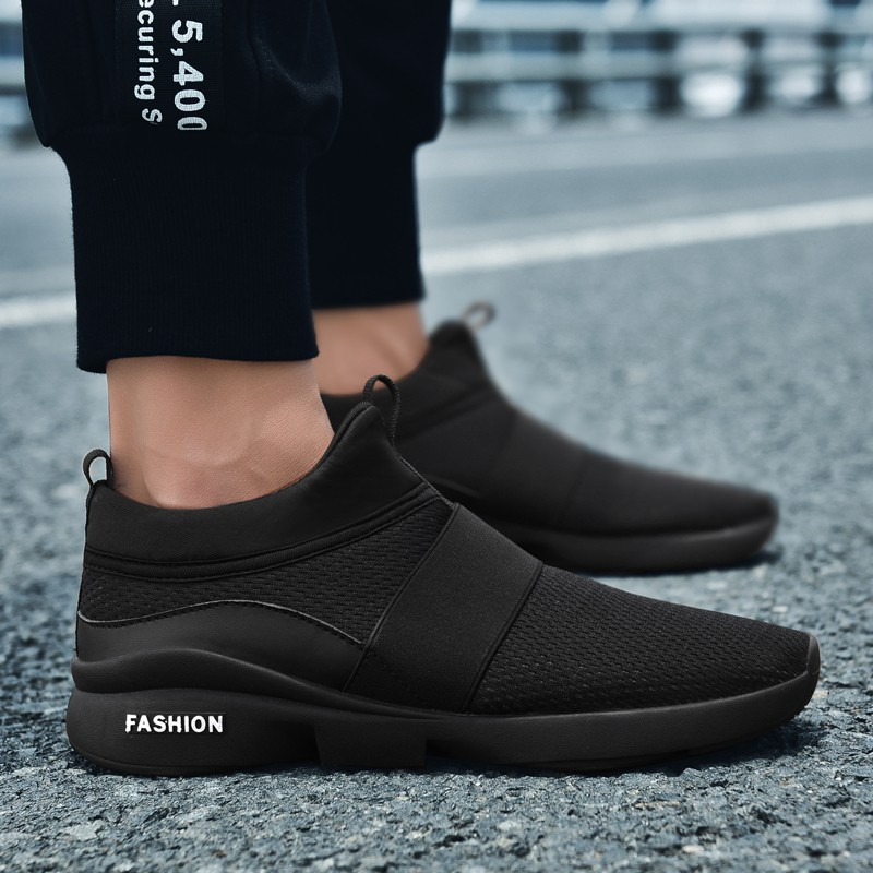 Sepatu Pria Sneakers Tanpa Tali Fashion Korea Size 39 46 Shopee