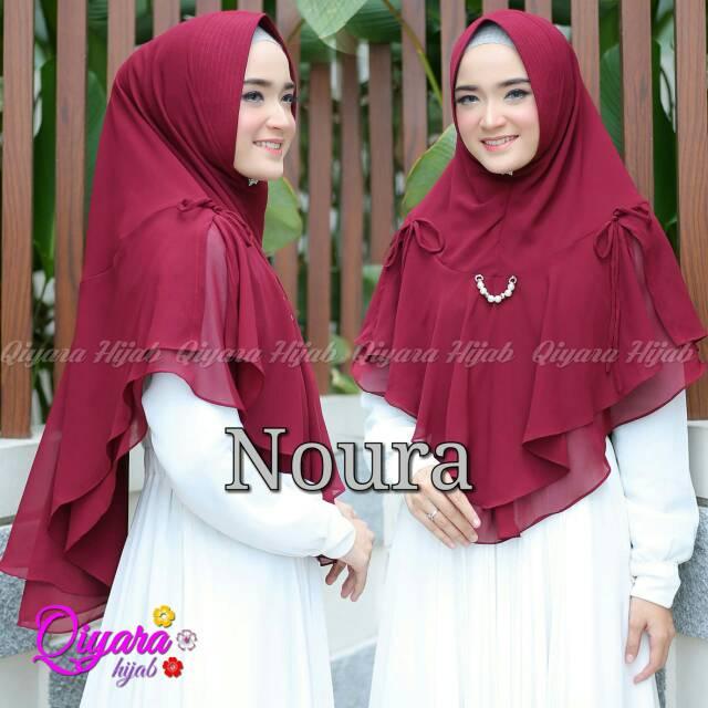 Khimar Noura Ori Qiyara Hijab Shopee Indonesia