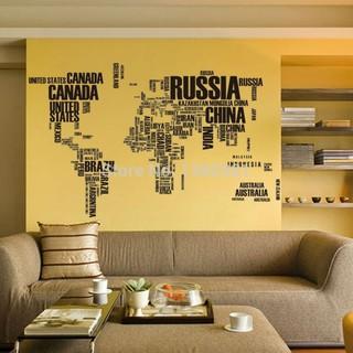 stiker dinding nama-nama negara dunia stiker vinil dapat