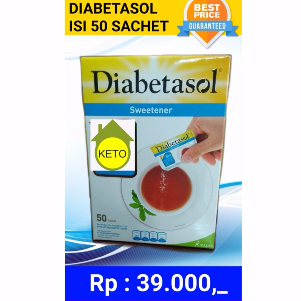 Gula Diabetasol Sweetener Isi 25 Shopee Indonesia Tropicana Slim Diabtx Value Pack 80s