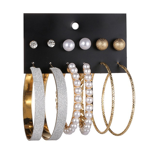 Toko Online toko.aksesoris.online | Shopee Indonesia -. Source · LRC Anting Fashion Gold Color Circular Ring&pearl Decorated Pure Color Earrings