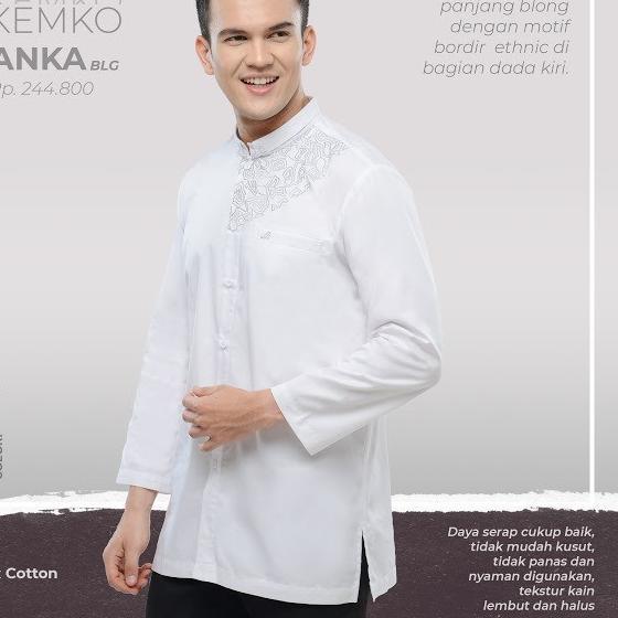 иafuu> RABBANI MEN - KEMKO ANKA Baju Muslim Pria Kemeja Koko Original Katun Lebaran 2020 Tersediaஆ