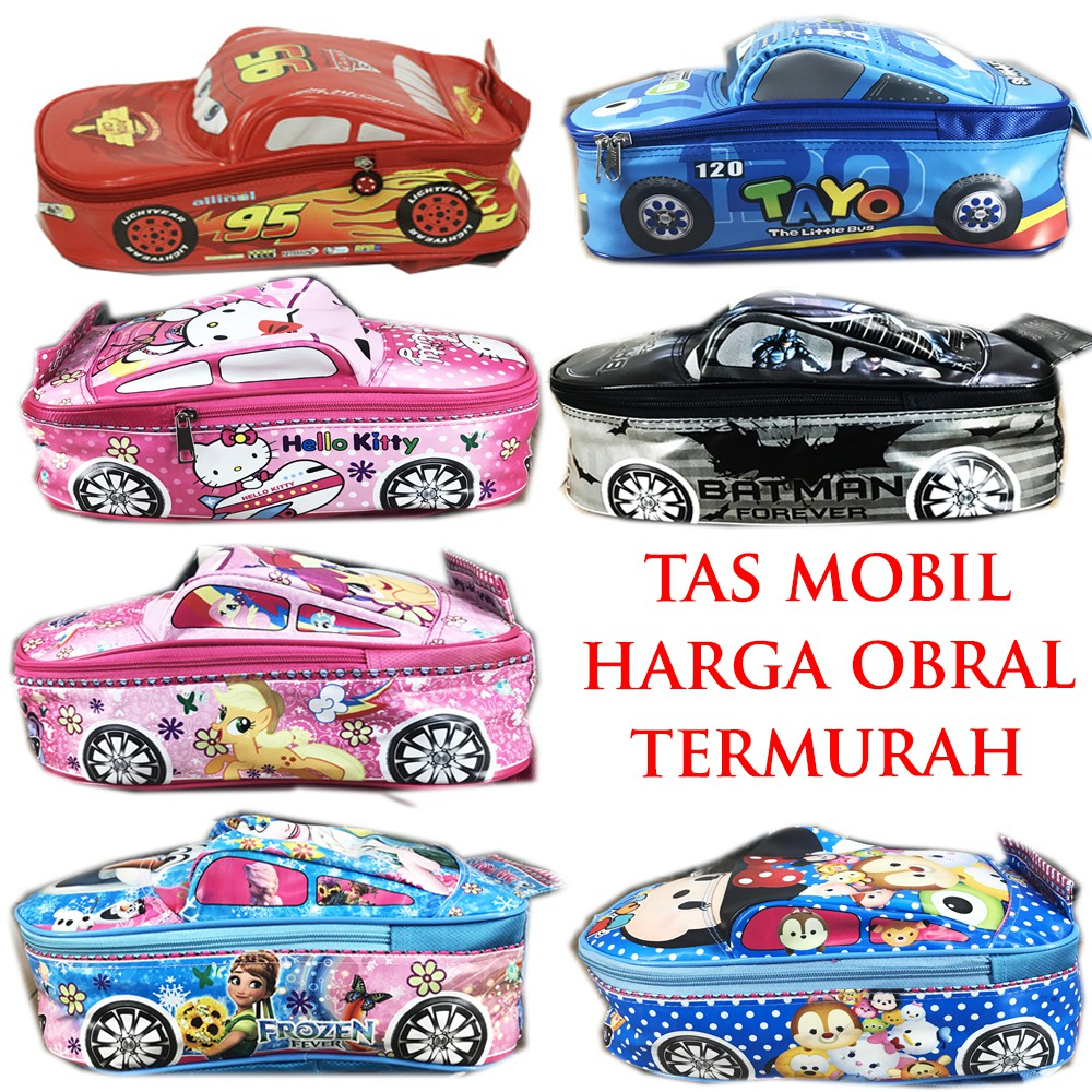 Tas Mobil Sekolah Anak Tk Frozen Cars Batman Tayo Hello Kitty Pony Ransel Paud Model Tsum Pink Shopee Indonesia