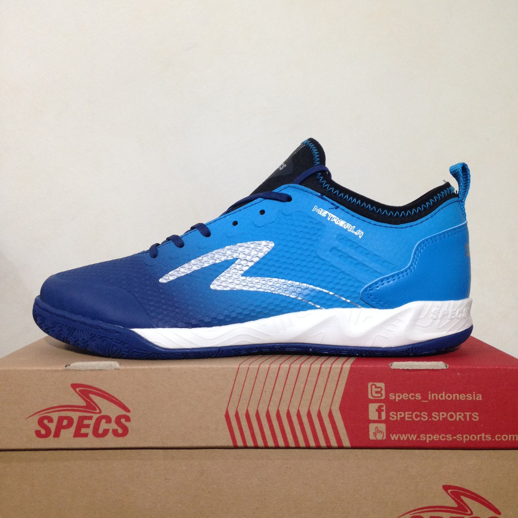 Sepatu Futsal Specs Original Metasala Musketeer Black Blue 400735 BNIB  0a87a912aa