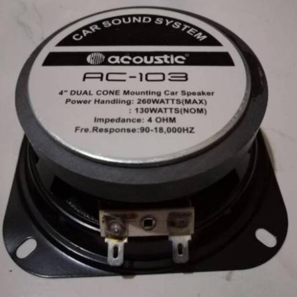 "Speaker woofer 4inch 4in acoustic / speaker mobil acoustic 4"" 260watt (KODE 979)"